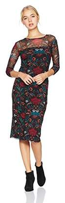 Volcom Junior's Womens' Keep It Fly Long Sleeve Midi Dress