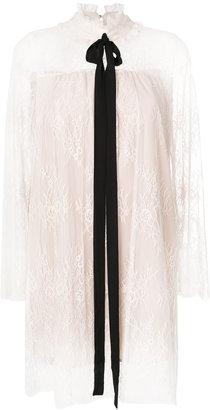 Twin-Set lace bow blouse $294.08 thestylecure.com