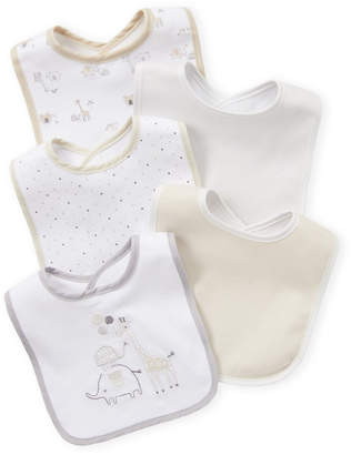 Baby Essentials Kyle & Deena (Newborn/Infants) 5-Pack Safari Bibs