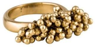 Me & Ro Me&Ro 10K Cluster Bead Ring