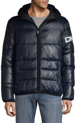 DKNY Hooded Logo Puff Jacket