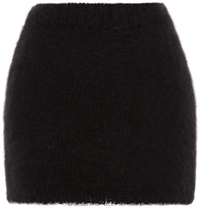 Rodarte Black Angora Mini Skirt
