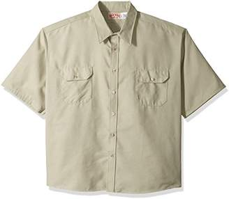 R&K Red Kap Men's RK Solid Dress Uniform Shirt