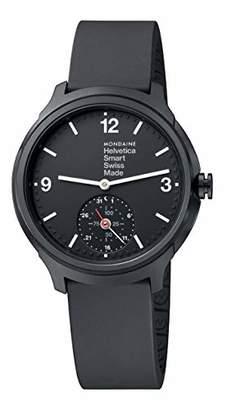 Mondaine Men's Helvetica Stainless Steel Quartz Watch with Rubber Strap