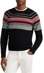 ATM Anthony Thomas Melillo Men's Fair Isle Wool-Blend Sweater - Black