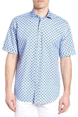 Bugatchi Classic Fit Geo Print Sport Shirt