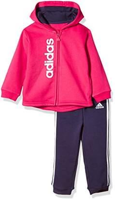 adidas (アディダス) - (アディダス)adidas トレーニングウェア Infant フルジップパーカースウェット上下セット (裏起毛) DSG89 [ボーイズ] DSG89 CE9569 ビビッドベリー S14/ノーブルインクF17 95