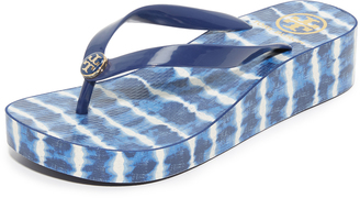 Tory Burch Classic Wedge Flip Flops $65 thestylecure.com