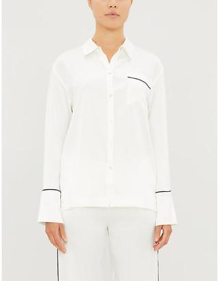 Asceno Piped-trim silk pyjama top
