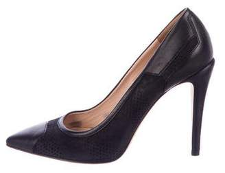 Calvin Klein Collection Leather Pointed-Toe Pumps