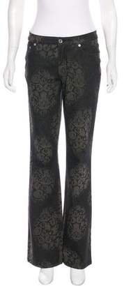 Cambio Mid-Rise Patterned Jeans