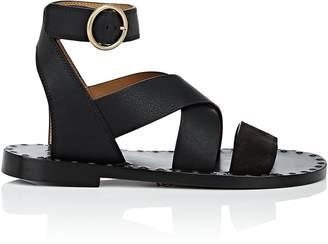 Chloé Women's Suede & Leather Ankle-Wrap Sandals