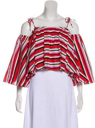 N. Nicholas Stripe Crop Top w/ Tags