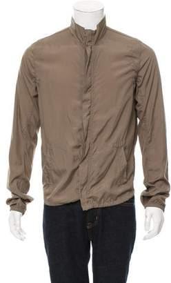 Rick Owens Silk-Blend Harrington Jacket