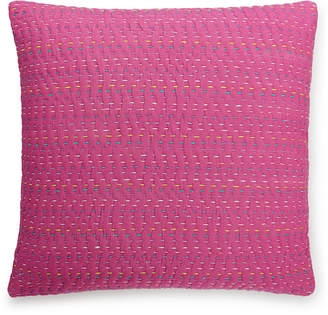 "Bluebellgray Closeout! bluebellgray Lomond Pink Esme Kantha 16"" Square Decorative Pillow Bedding"