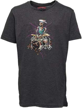 Brave Soul Junior Boys Peril Graphic T-Shirt Dark Charcoal