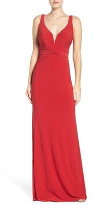 La Femme Jersey Gown $288 thestylecure.com