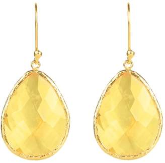 Latelita London - Single Drop Earring Gold Citrine Hydro