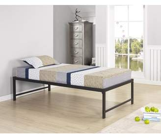 """Rails Pilaster Designs Archer 39"""" Twin Size Black Metal Day Bed Frame With & Slats (Twin Daybed)"""