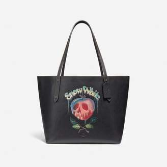 Coach Disney X Market Tote With Poison Apple Graphic
