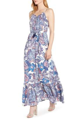 1 STATE 1.STATE Crystal Flowers Print Maxi Dress