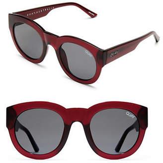Quay Large 144MM Round Translucent Sunglasses
