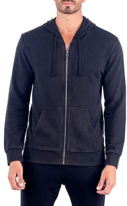 Unsimply Stitched Stone Washed French Terry Zip-Up Hoodie