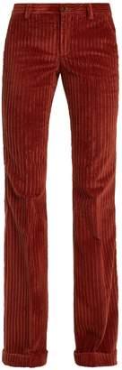Miu Miu Mid-rise flared-leg corduroy trousers