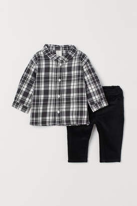 H&M Shirt and corduroy trousers