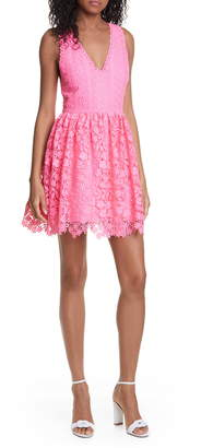Alice + Olivia Iris Lace Sleeveless Fit & Flare Dress