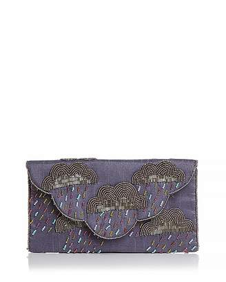 From St Xavier Cirrus Cloud Beaded Convertible Clutch