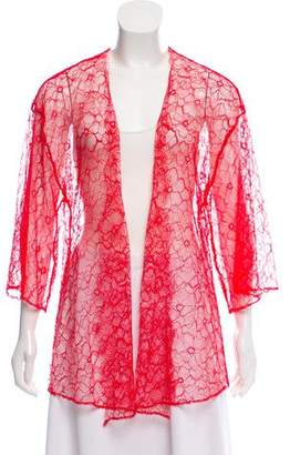 Morgan Lane Lace Open Front Cardigan
