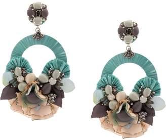 Ranjana Khan floral-appliquéd earrings