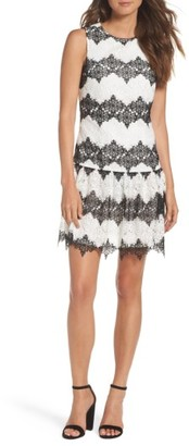 Women's Betsey Johnson Lace Drop Waist Dress $148 thestylecure.com