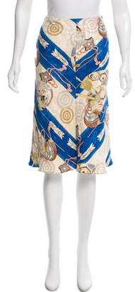 Christian Dior Silk Knee-Length Skirt