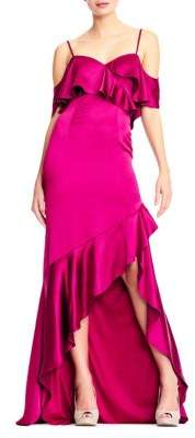 Adrianna Papell Ruffled Strappy Gown