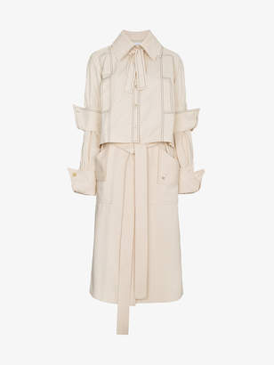 J.W.Anderson Calico Double Layer Trench Coat