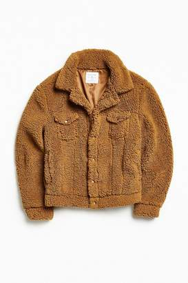 Urban Outfitters Sherpa Exterior Trucker Jacket