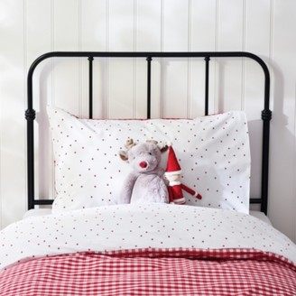 The White Company Reversible Gingham Pillowcase, Red, Standard