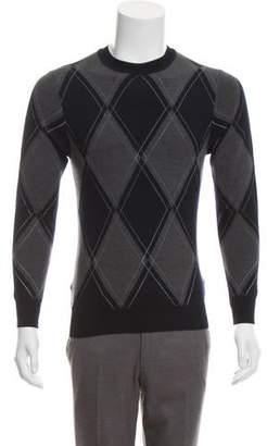 Christian Dior Argyle Virgin Wool Sweater