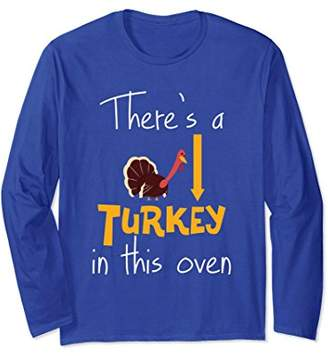 Funny Thanksgiving Turkey Long Sleeve Shirt Expecting Mom