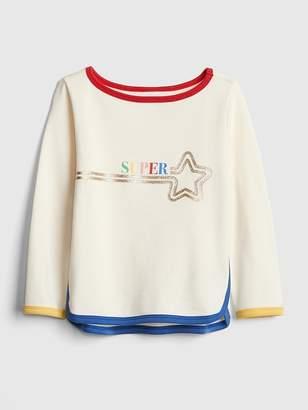 Gap Rainbow-Trim Sweatshirt