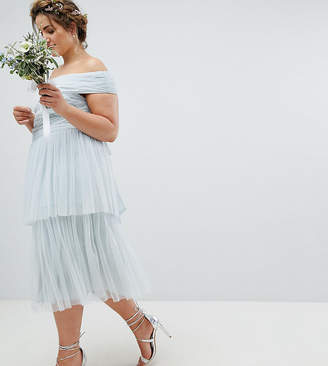 Maya Plus Premium Tulle Layered Midi Bridesmaid Skirt
