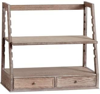 Pottery Barn Teen Adjustable Standing Usb Desk Converter, Smoked Gray