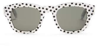 Saint Laurent D Frame Acetate Sunglasses - Womens - Silver Multi
