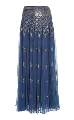 Temperley London Starlet Sequined Chiffon Skirt