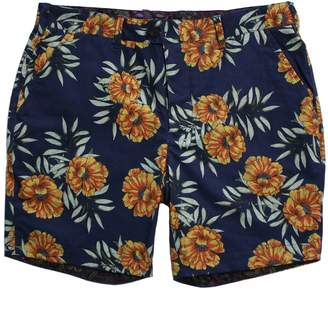 Lords of Harlech - John Short In Navy Tropical Print