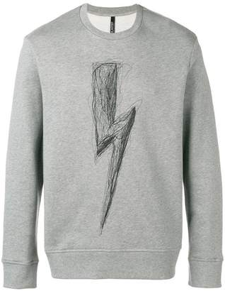 Neil Barrett sketch logo sweatshirt