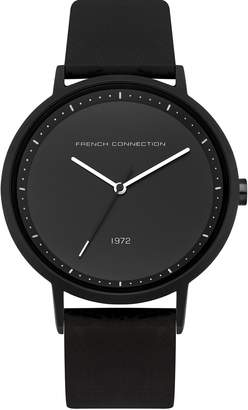 French Connection Men's Quartz Metal and Silicone Casual Watch, Color: (Model: FC1288BBW)
