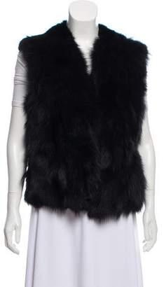 Adrienne Landau Rabbit & Fox Fur Vest